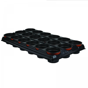 Growing Tray with 18 Round Pots