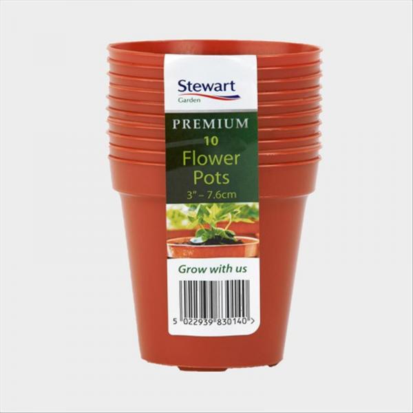 """Flower Pot (Multi-10 Pk) 7.6cm (3"""") Terracotta"""