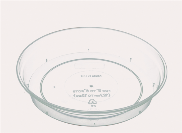 Clear Saucer for 11-18.5cm Clear Pots