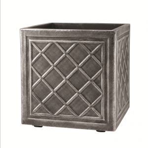 Square Lead Effect Planter 38x38cm Pewter
