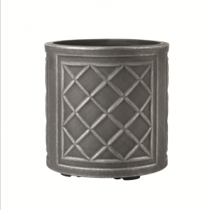 Round Lead Effect Planter 32x32cm Pewter