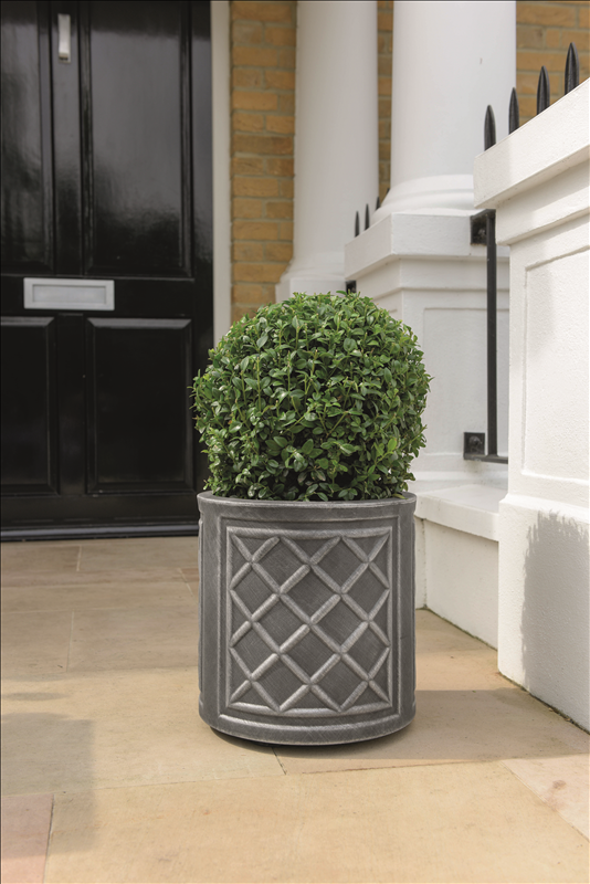 Round Lead Effect Planter 32x32cm Pewter