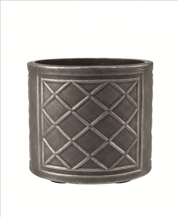 Lead Effect Round Planter 44x40cm Pewter