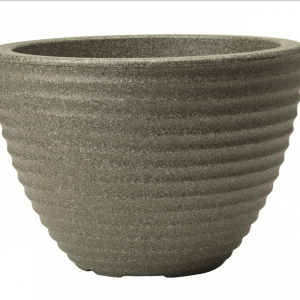 Low Honey Pot 50cm Marble Green