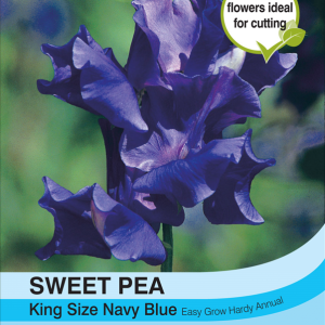 Sweet Pea King Size Navy Blue
