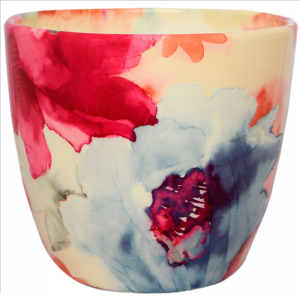Monza Watercolour Pot Pink 13cm