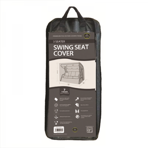 3 Seater Swing Seat Cover, Black