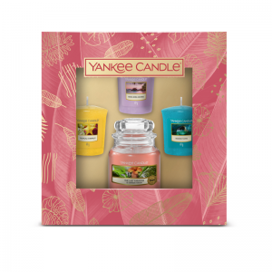 1 Small Jar & 3 Votive Gift Set