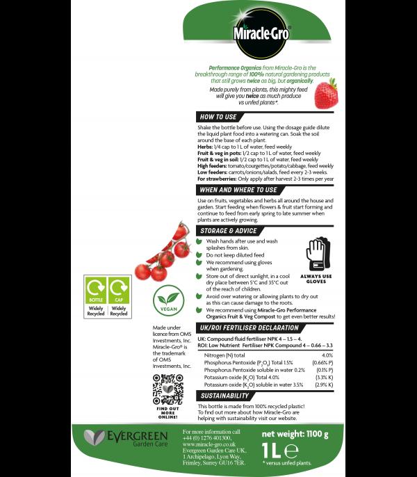 Proformance Fruit & Veg Liquid 1L