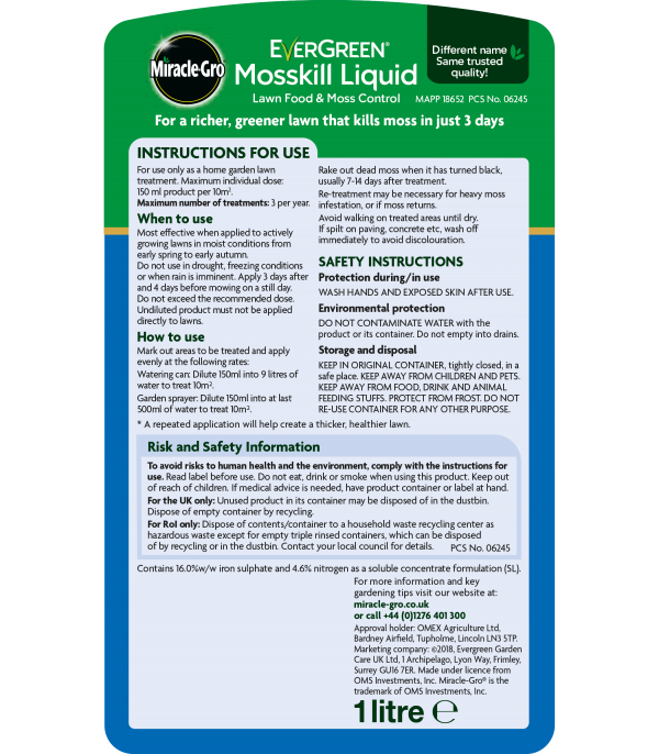 Evergreen® Mosskill Liquid 1L