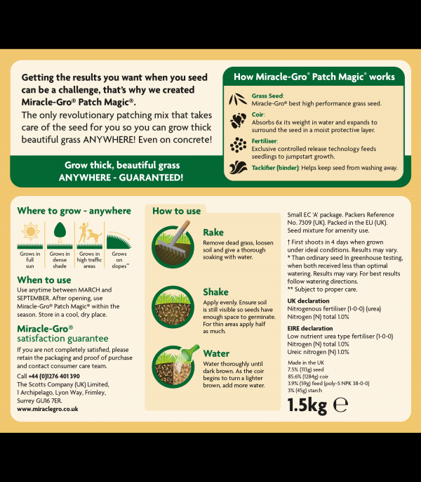Miracle-Gro® Patch Magic Bag