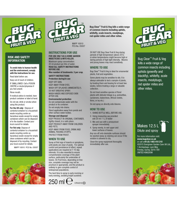 Bugclear Fruit 'N' Veg 250ml