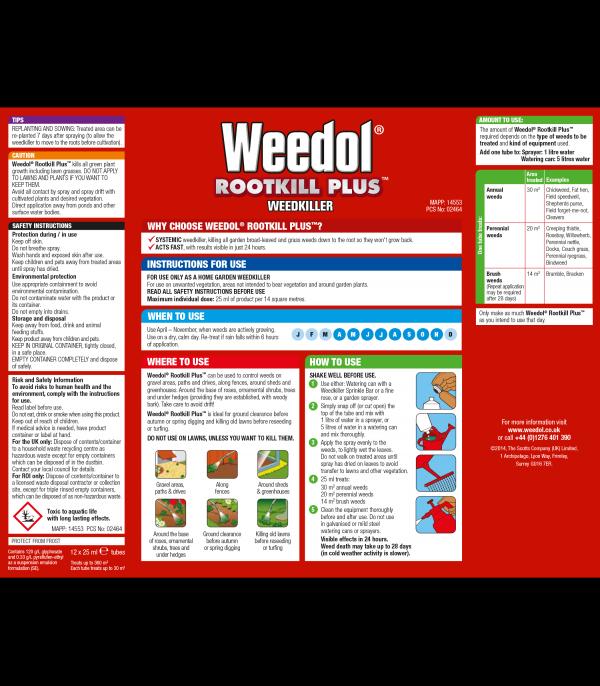 Weedol Rootkill Plus Tubes x12