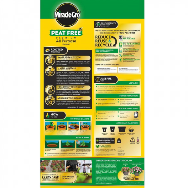 Miracle-Gro® All Purpose Peat Free 40L