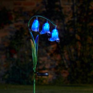 Bluebells Solar Flower Stake