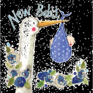 Blue Stork Card