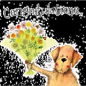 Green Bouquet Congratulations