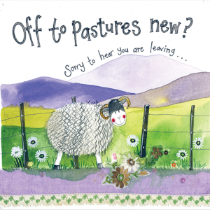 Pastures New Card