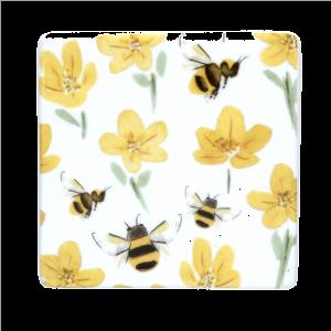 Ceramic Buttercup & Bee Coaster