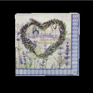 Lavender Heart Paper Napkins