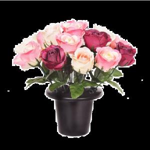 Beauty Open Rose Grave Pot