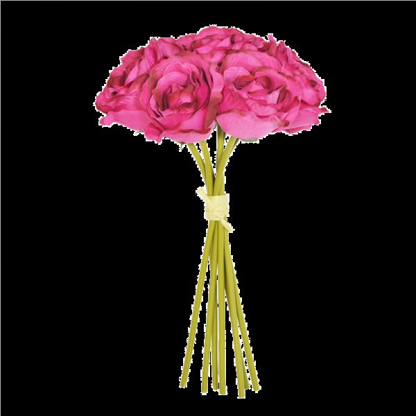 Cerise Open Rose Bouquet