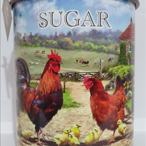 Cockerel & Hen Sugar Canister
