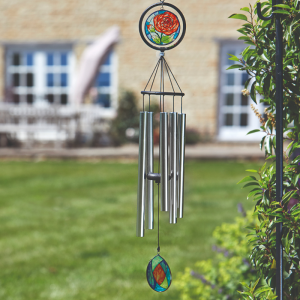 Glass Rose Windchime 89 cm