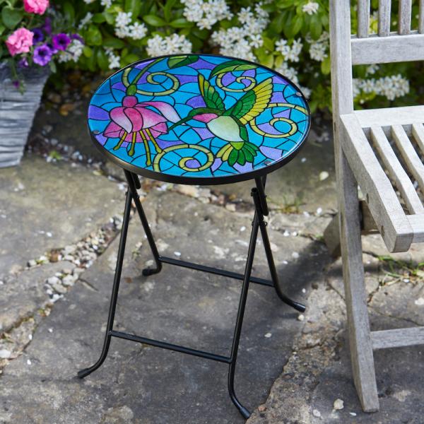 Hummingbird Glass Table