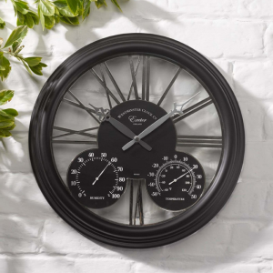 Exeter Black Clock 15""