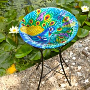 Peacock Birdbath