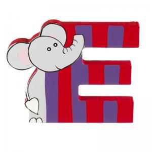 Wooden Alphabet Letter E
