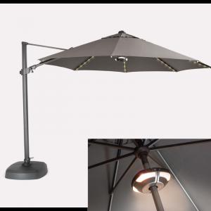 Kettler Free Arm LED Parasol 3.5m with speaker