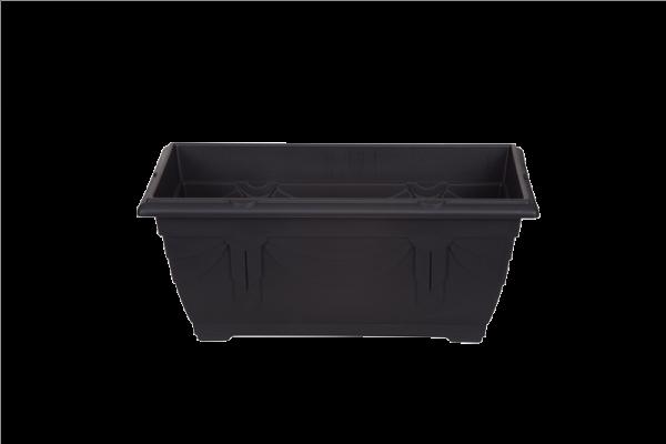 Venetian Window Box Black 40cm