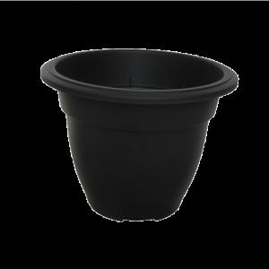 Round Bell Planter Black 30cm