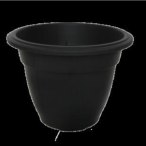 Round Bell Planter Black 38cm