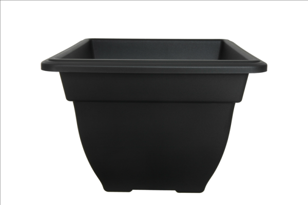 Square Bell Planter Black
