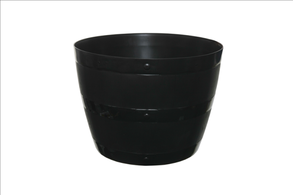 Barrel Planter Black 34cm