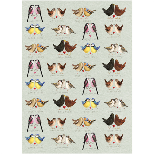 Beautiful Birds Tea Towel