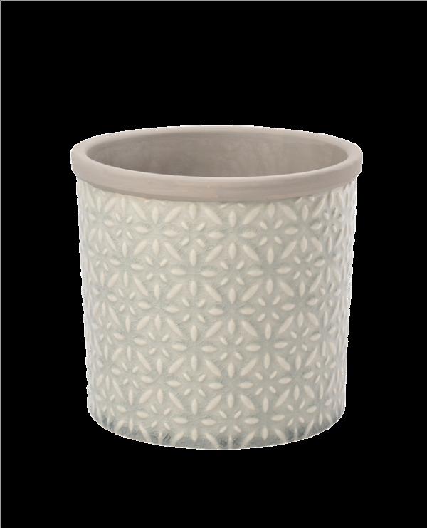 Tuscany Pot Large Grey