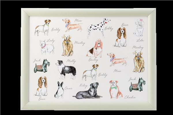 Pastel pets - Dog Laptray