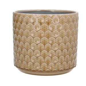Sand Honeycomb Ceramic Pot