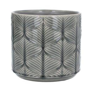Grey Wavy Ceramic Pot