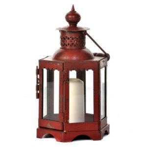 Mogul Iron Lantern Red