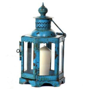 Mogul Iron Lantern Blue