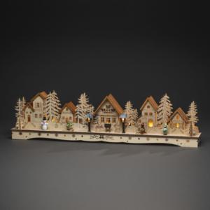 Light Up Wooden Scene, Houses