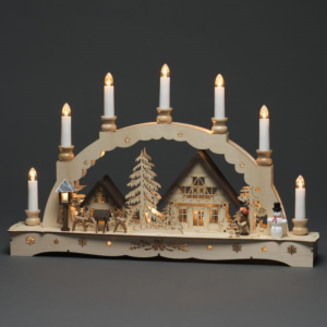 Light Up Wooden Scene, 7 Candles