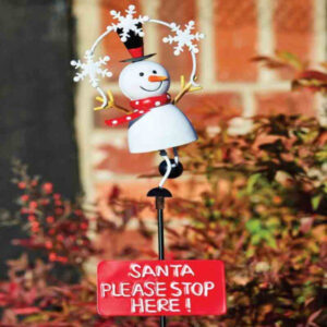 Stop Here - Frosty Snowman