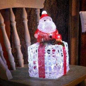Faux Gift Box - Santa
