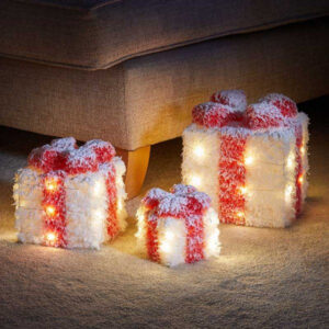 Faux Gift Boxes - Frosted White